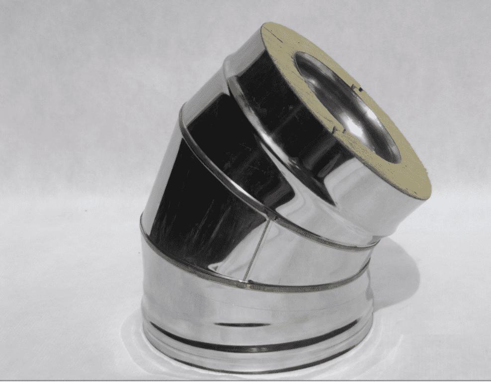Отвод Термо (430, t0.5/430, t0.5) 45º, d150/D210(Раструб)