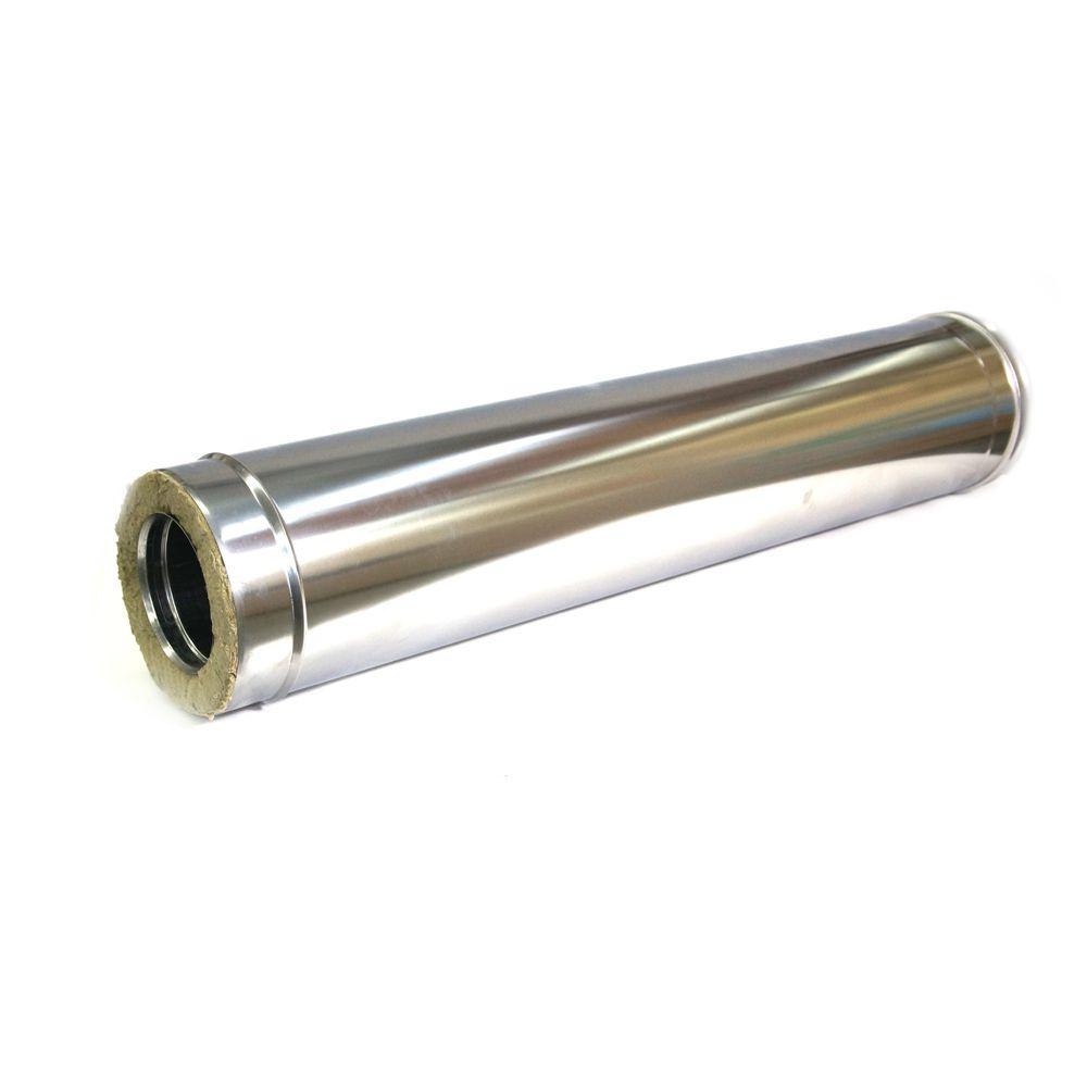 Труба Термо (430, t0,5 / 430, t0,5) d110 / D200 L1000 (РАСТРУБ.)