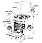 Gefest 5102-03 0023 газовая плита, фото 3