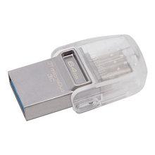 Kingston DTDUO3C/64GB USB-накопитель 64GB USB 3.0, металл (USB и USB Type-C)