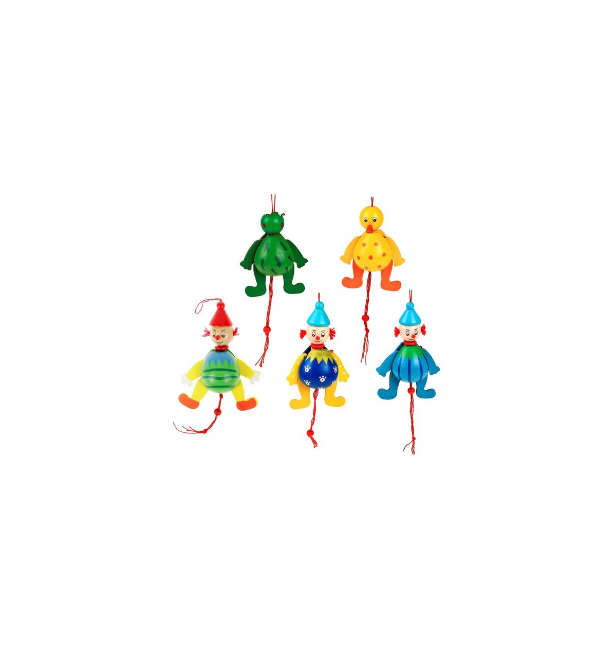 """Деревянная игрушка Дергунчик """"Яркий Клоун"""", в ассортименте"""