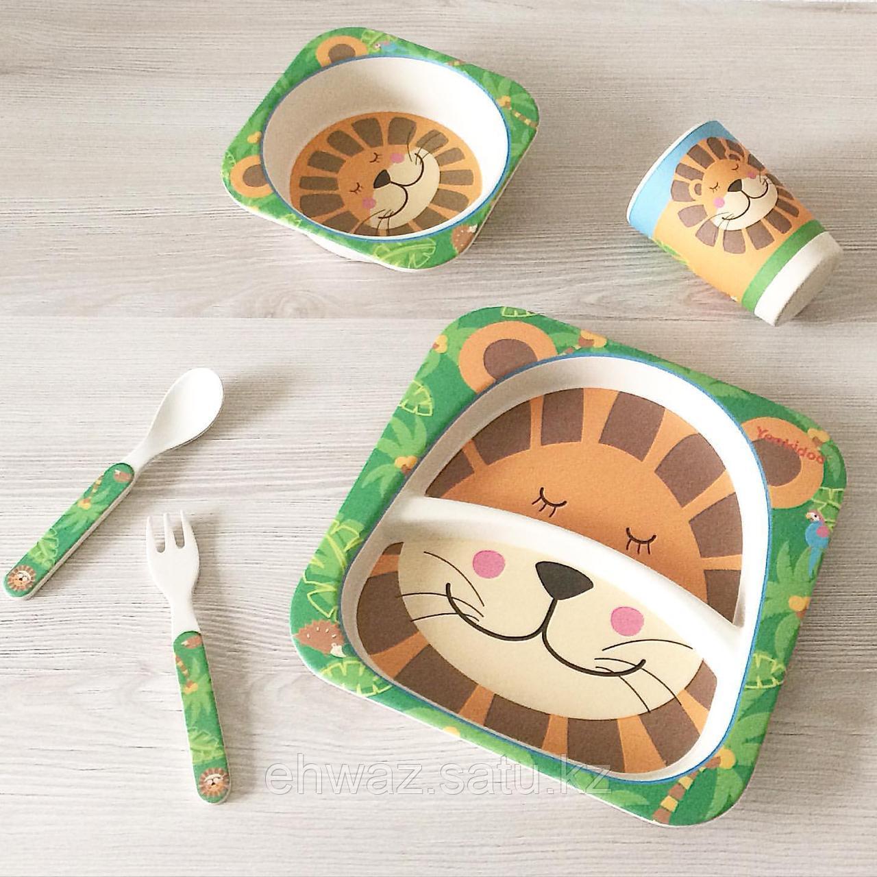 Детская бамбуковая  посуда  Лев