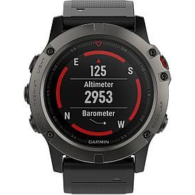 Смарт-часы Garmin Fenix 5X Sapphire черный/серый