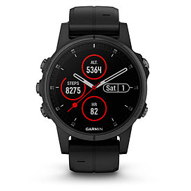 Смарт-часы Garmin Fenix 5S Plus Sapphire черный