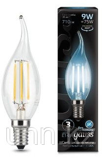 Лампа Gauss LED Filament Candle 9W E14 4100K 1/10/50
