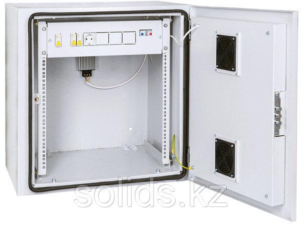 Шкаф уличный настенный климатический 12U Ш665хВ816хГ605мм IP55