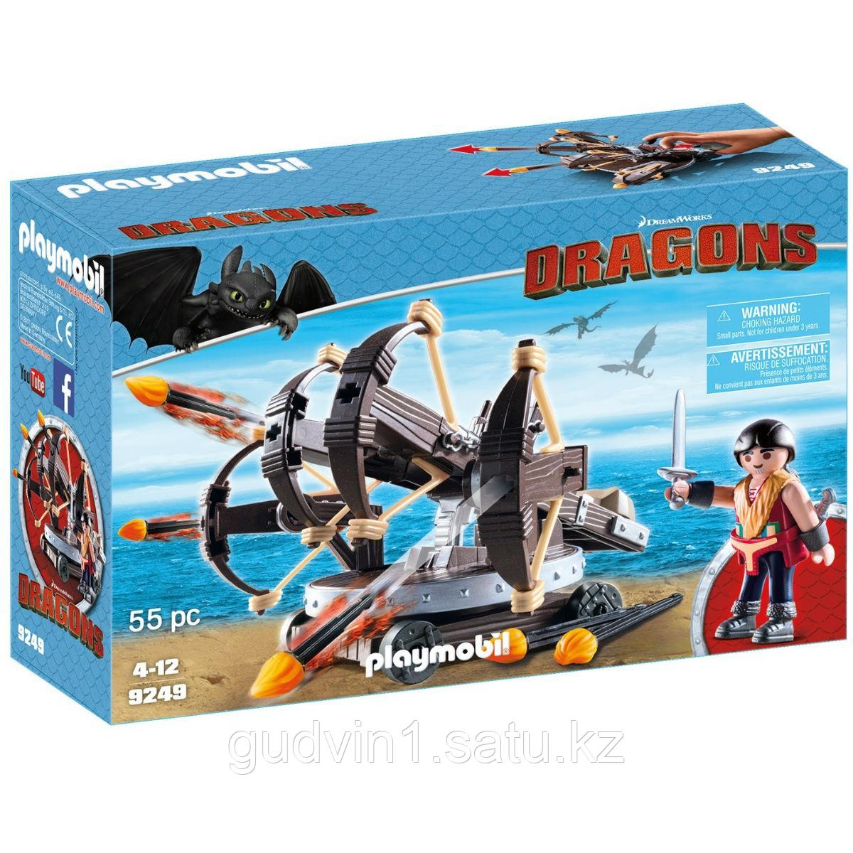 Конструктор Playmobil Драконы: Эрет с 4 Баллистами 9249pm