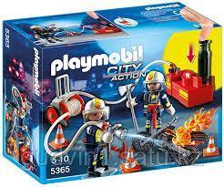 Конструктор Playmobil Пожарная служба: Пожарные с водяным насосом 9468pm