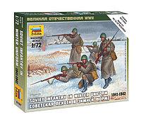 Сборная модель Советская пехота в зимней форме, 1:72, фото 1