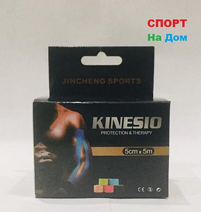 Спортивный тейп Кинезио Jincheng Sports (цвет бежевый) - пластырь для поддержки мышц 5 см х 5 м, фото 2