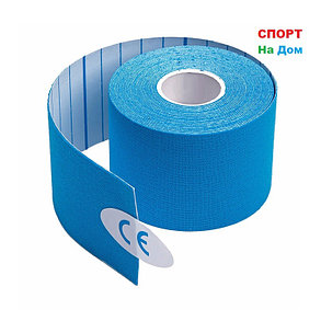 Спортивный тейп Кинезио Kinesiology Tape (цвет голубой) - пластырь для поддержки мышц 5 см х 5 м, фото 2