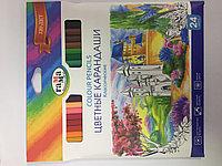 Карандаши цветные 24цв. Гамма
