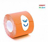 Спортивный тейп Кинезио Kinesiology Tape (цвет коричневый) - пластырь для поддержки мышц 5 см х 5 м