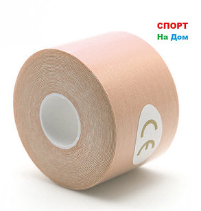 Спортивный тейп Кинезио Kinesiology Tape (цвет бежевый) - пластырь для поддержки мышц 5 см х 5 м, фото 2
