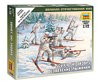 Сборная модель Советские лыжники ВОВ, 1:72, фото 1