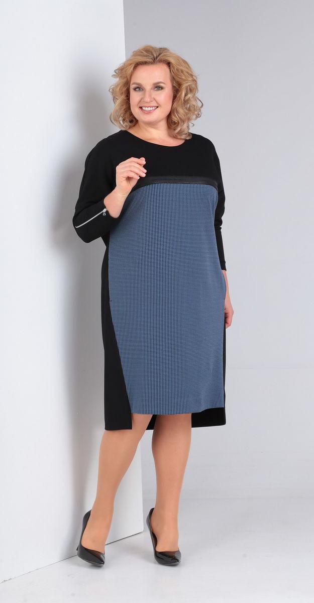 Платье Диамант-1474, синий, 52
