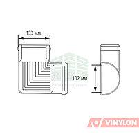 Угол желоба 90° Vinylon (универсальный, белый), фото 3