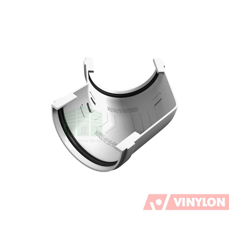 Угол желоба 135° Vinylon (универсальный, белый)