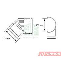 Угол желоба 135° Vinylon (универсальный, кофе), фото 3