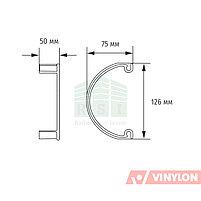 Заглушка воронки Vinylon (универсальная, белая), фото 3