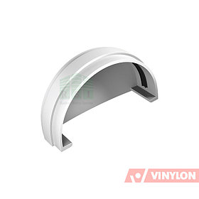 Заглушка желоба Vinylon (универсальная, белая)