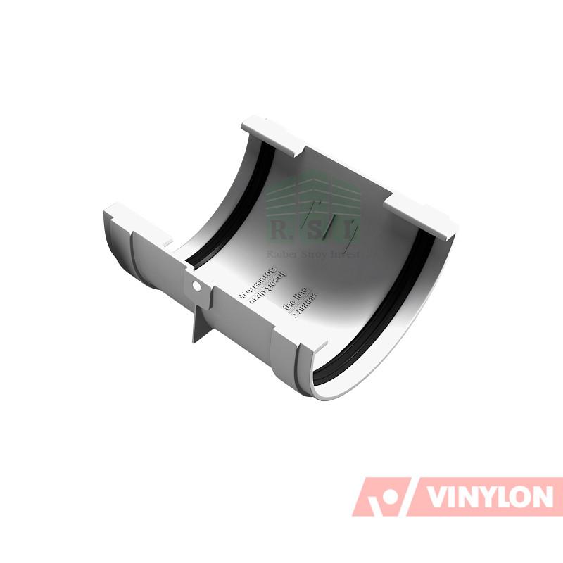 Муфта желоба соединительная Vinylon (белая)