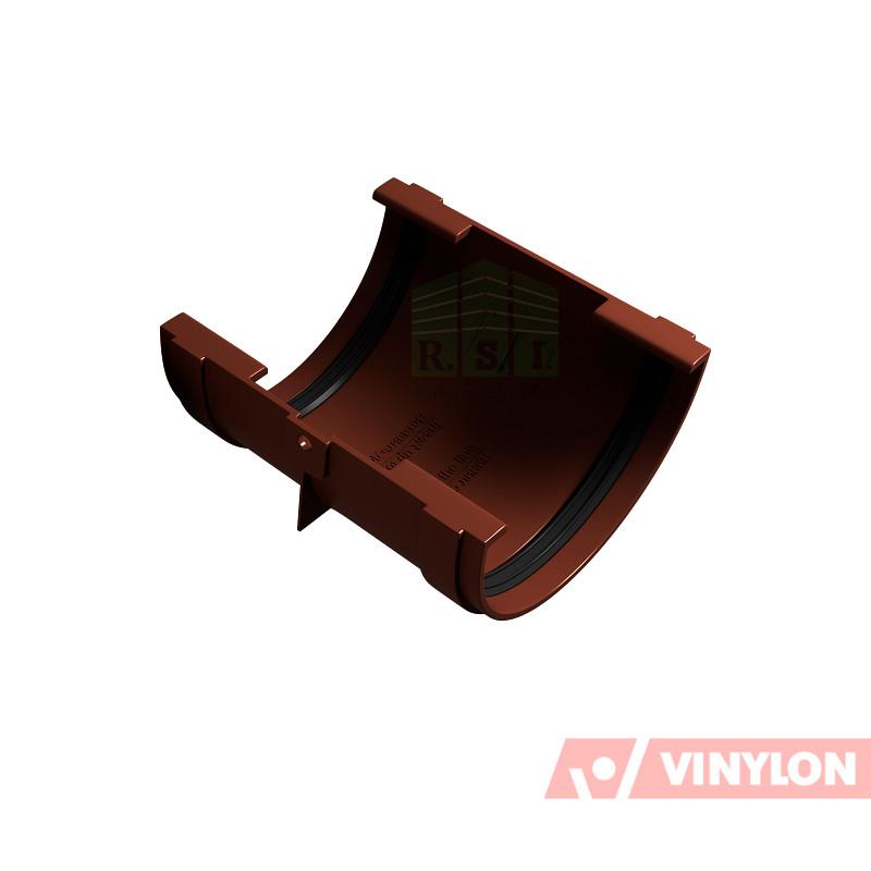 Муфта желоба соединительная Vinylon (кофе)