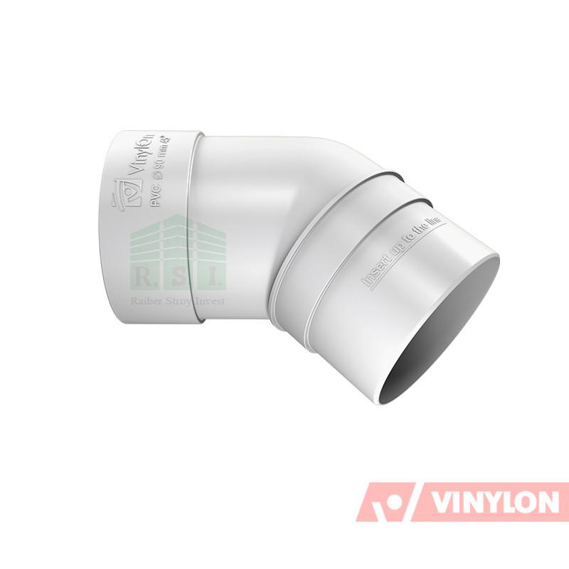 Колено трубы 45° Vinylon (белое)