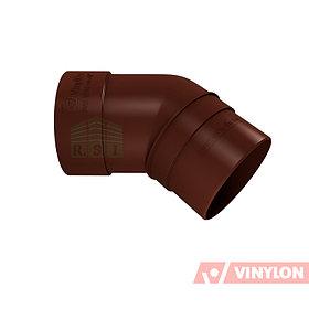 Колено трубы 45° Vinylon (кофе)