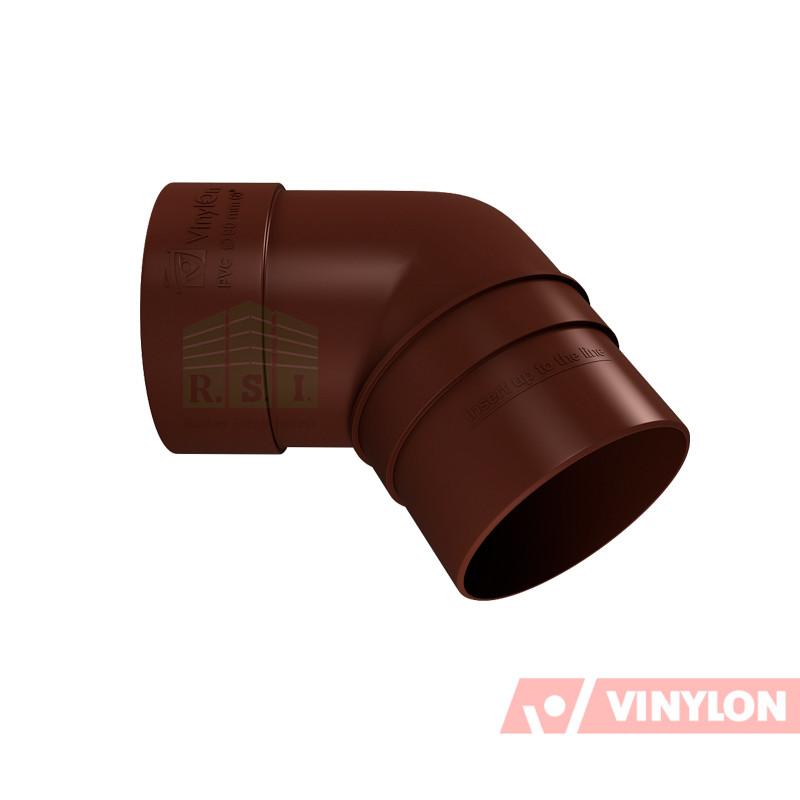 Колено трубы 67° Vinylon (кофе)