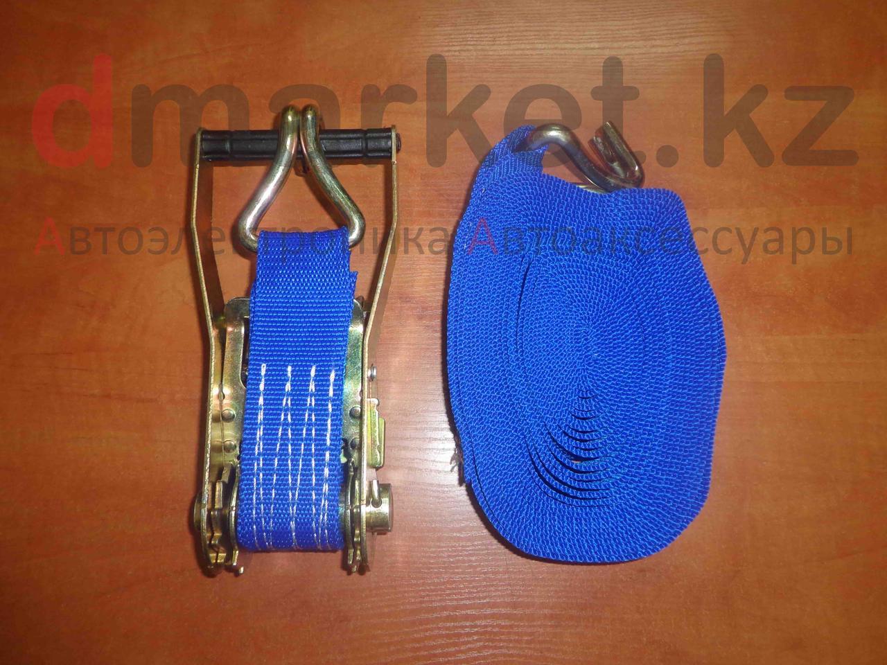 Стяжной ремень 5т, длина 10м, ширина 5 см, храповый механизм