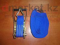 Стяжной ремень 5т, длина 10м, ширина 5 см, храповый механизм, фото 1