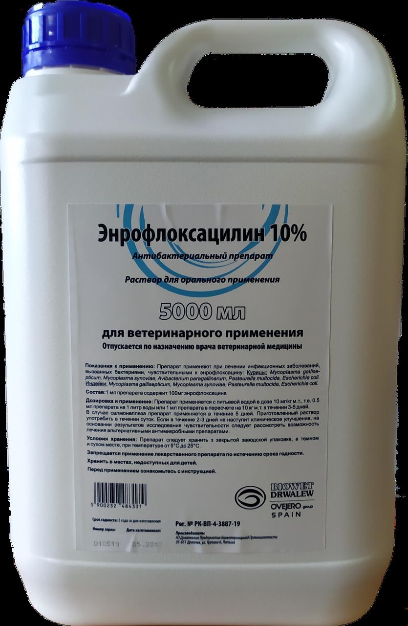 Антибактериальный препарат Энрофлоксацин 10%