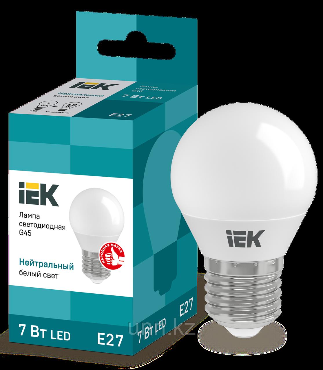 Лампа светодиодная ECO G45 шар 7Вт 230B 3000K E27 IEK