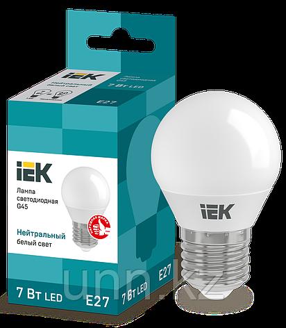 Лампа светодиодная ECO G45 шар 7Вт 230B 3000K E27 IEK, фото 2