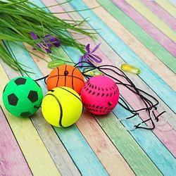 """Мяч мягкий """"Спорт"""" на резинке 4,7 см"""