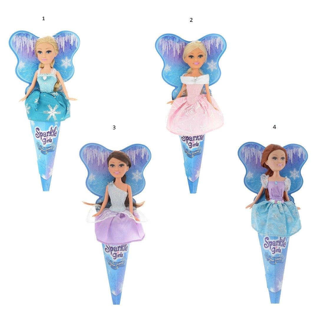 "Кукла в рожке Sparkle Girlz ""Зимняя принцесса"", 27 см"