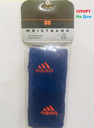 Wristband Напульсники на руку, предплечье Adidas (цвет синий), фото 2
