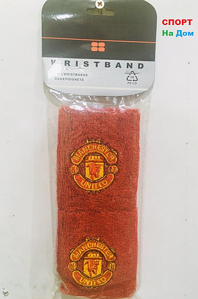 Wristband Напульсники на руку, предплечье Manchester United (цвет красный), фото 2