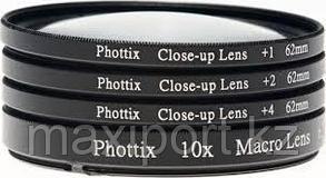 Макро линзы Phottix 52мм 67мм 72мм 77мм Увеличение +1, +2, +4, +10, фото 2