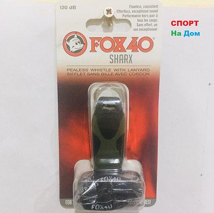 Свисток тренерский футбольный FOX 40 SHARX (цвет черный, зеленый), фото 2