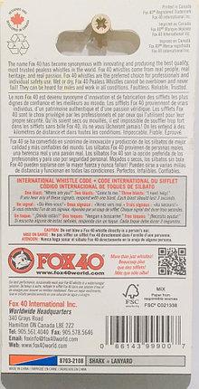 Свисток тренерский футбольный FOX 40 SHARX (цвет черный), фото 2