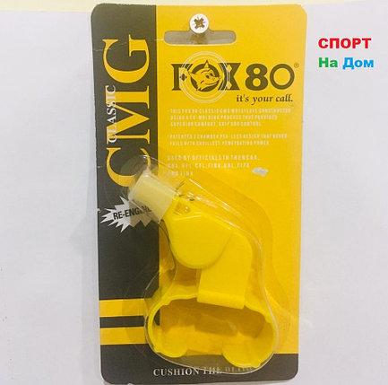 Свисток на руку (браслет) тренерский футбольный FOX 80 CMG Classic (цвет желтый), фото 2