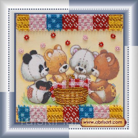 """Набор для вышивания бисером """"Мишки и корзинки"""" АМ-049"""