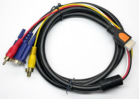 HDMI - 3 RCA 1м, фото 2