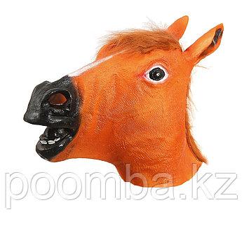"""Карнавальная маска """"Лошадь"""", цвет коричневый"""