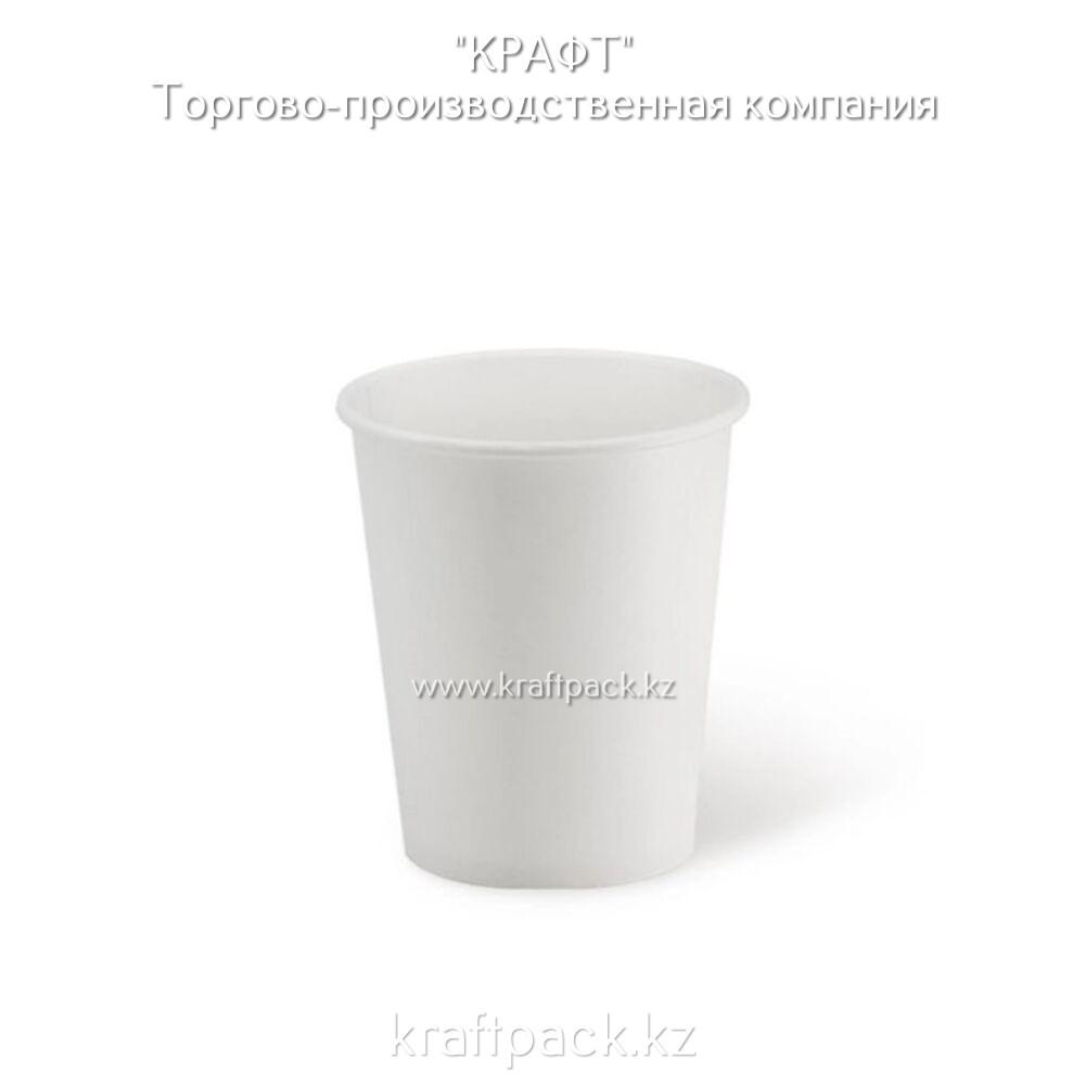 Бумажный стакан белый  для горячих/холодных напитков 250мл (8 OZ) D80 (50/1000)