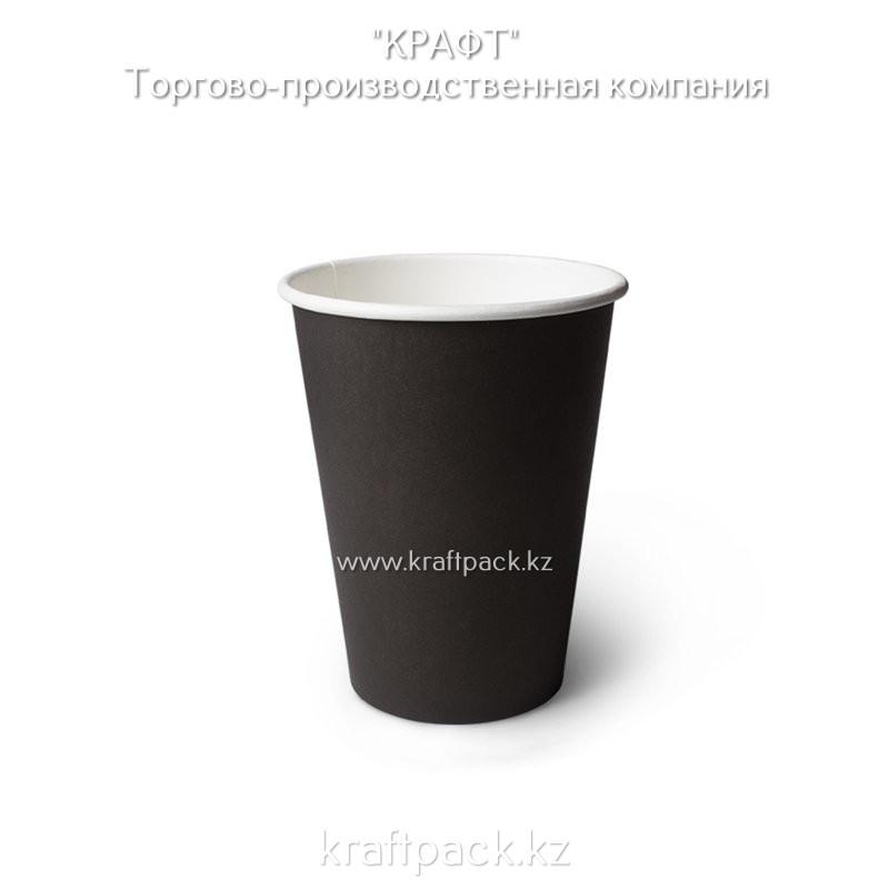 Бумажный стакан черный для горячих/холодных напитков 350мл (12 OZ / D90) (50/1000)