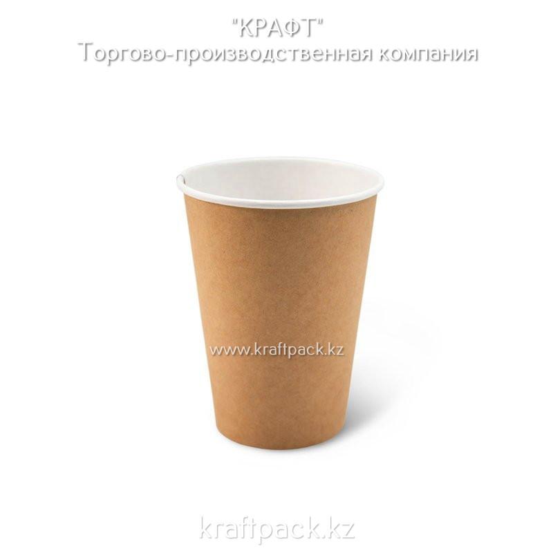 Бумажный стакан крафт для горячих/холодных напитков 350мл (12 OZ) DoEco D90 (50/1000)