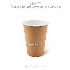Бумажный стакан крафт для горячих/холодных напитков 350мл (12 OZ / D90) DoEco (50/1000)